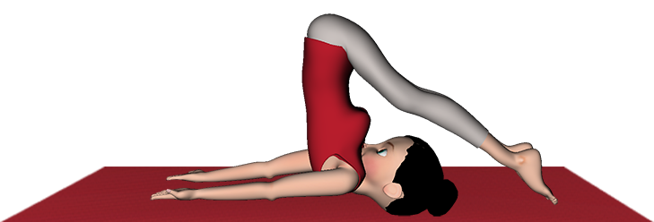 Halasana Plow Pose Yoga Steps Benefits