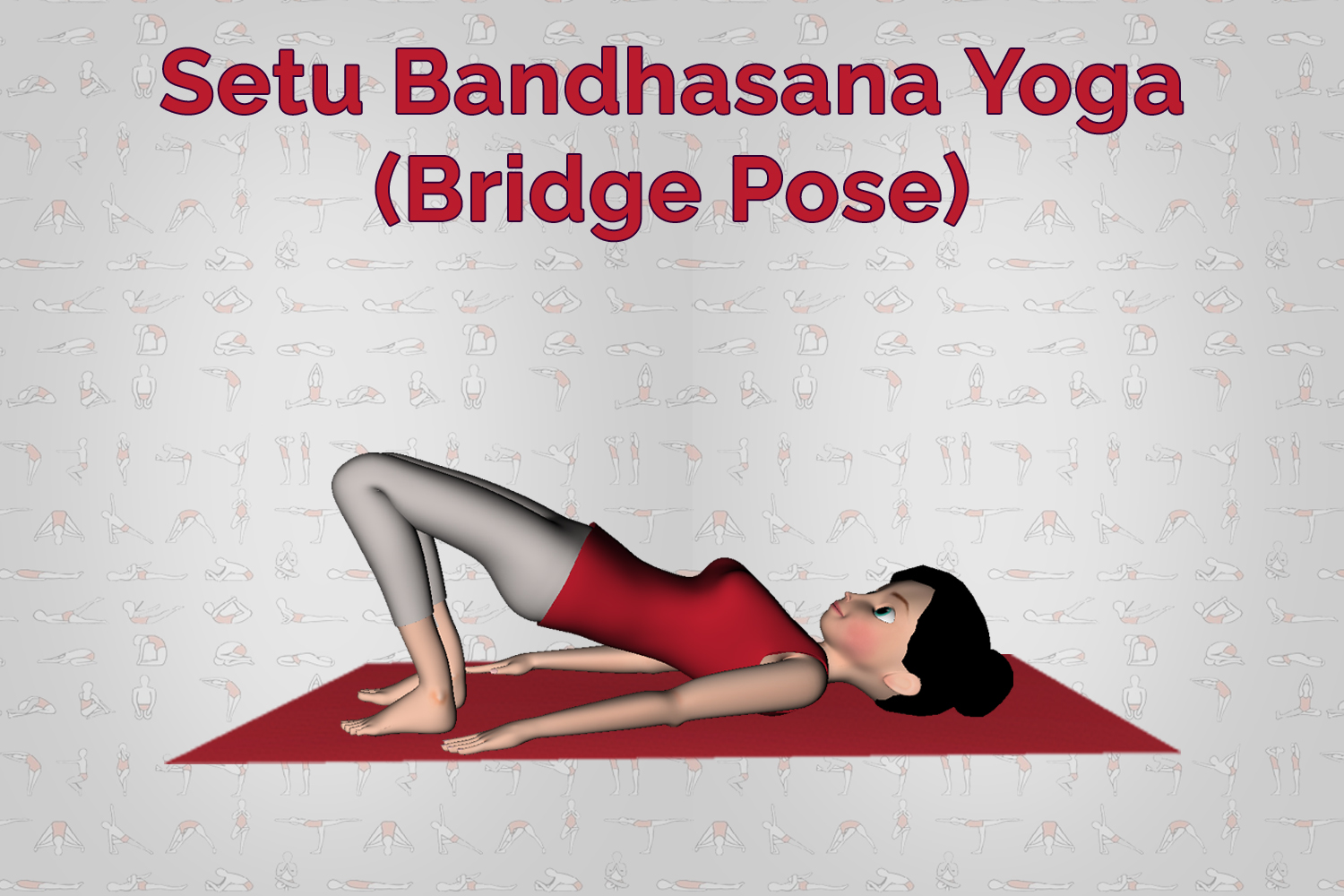 Yoga poses | Setu Bandhasana (Bridge Pose) | 7pranayama