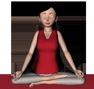 Sitting pose , pranayama, yoga