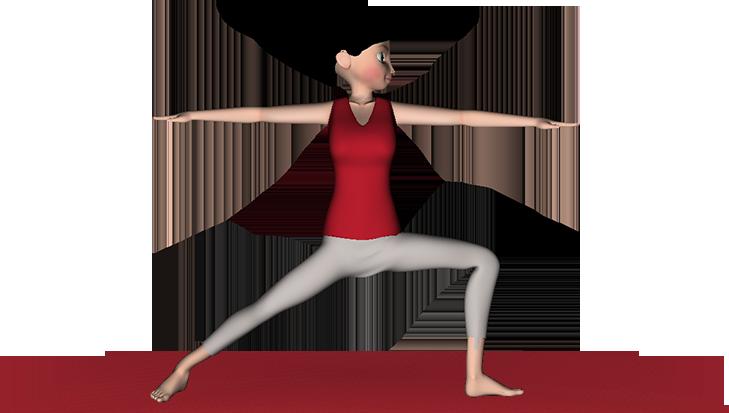 Virabhadrasana Yoga Warrior Pose
