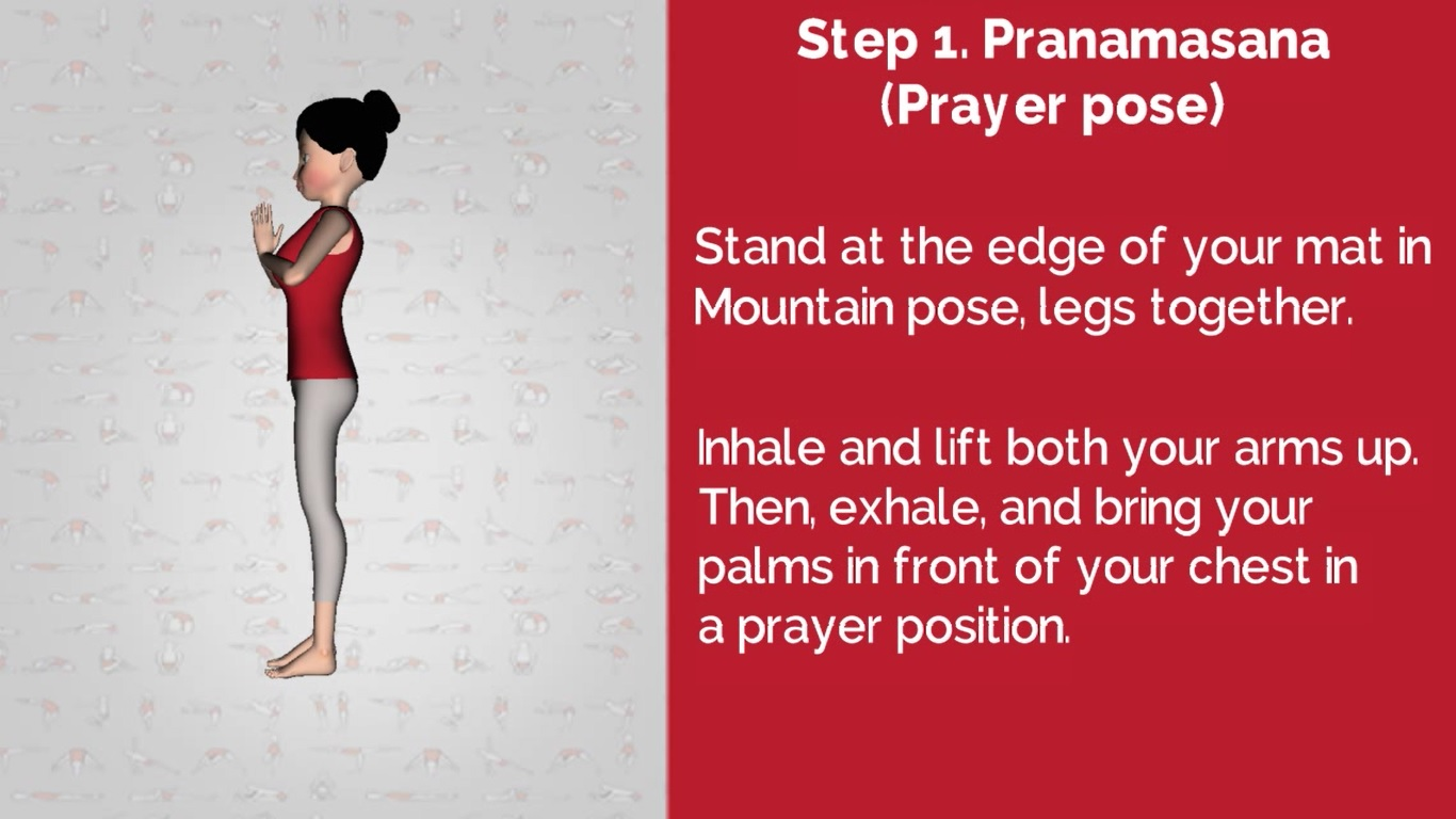 Surya Namaskar  Step 1