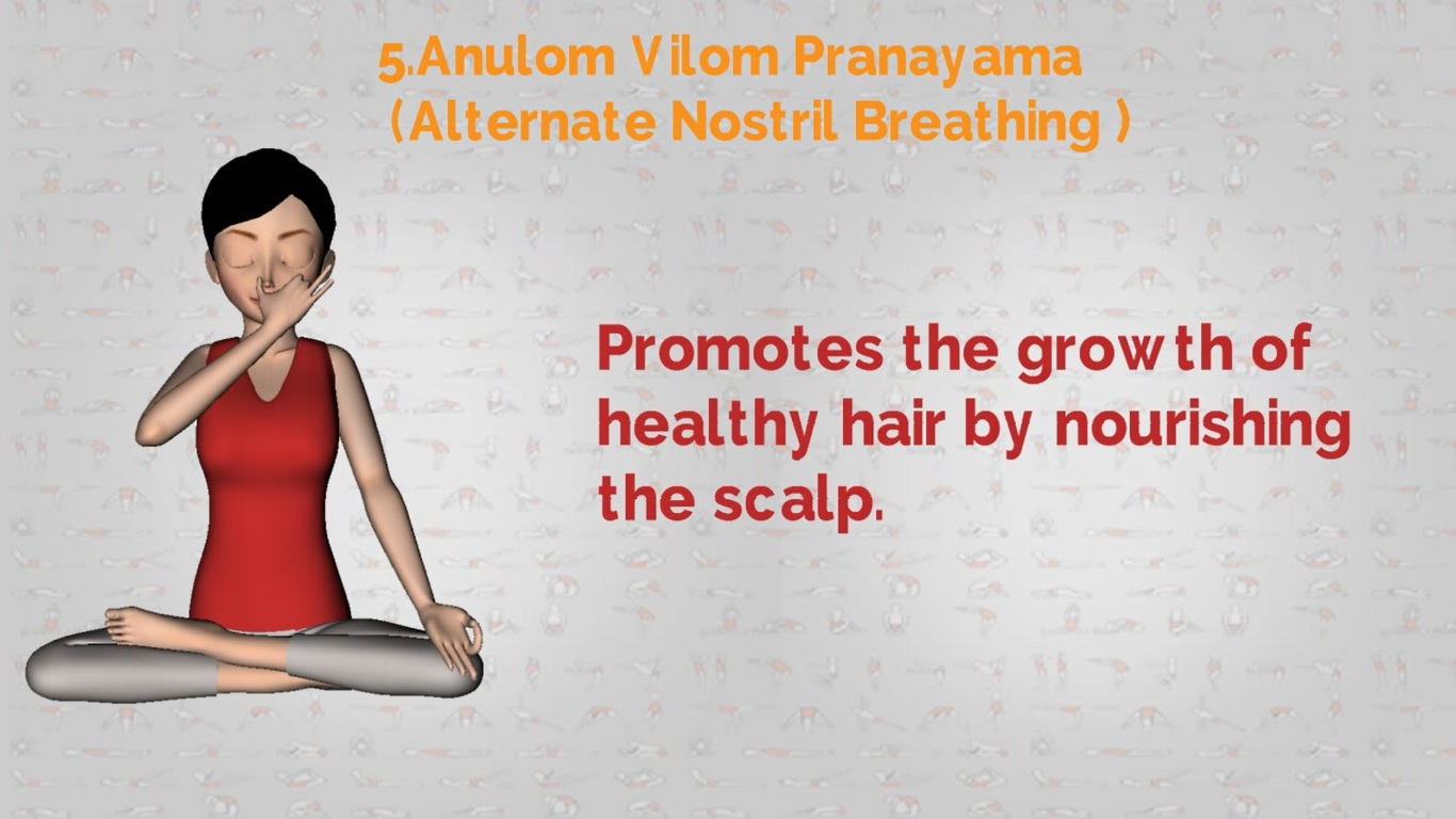 yoga healthy hair