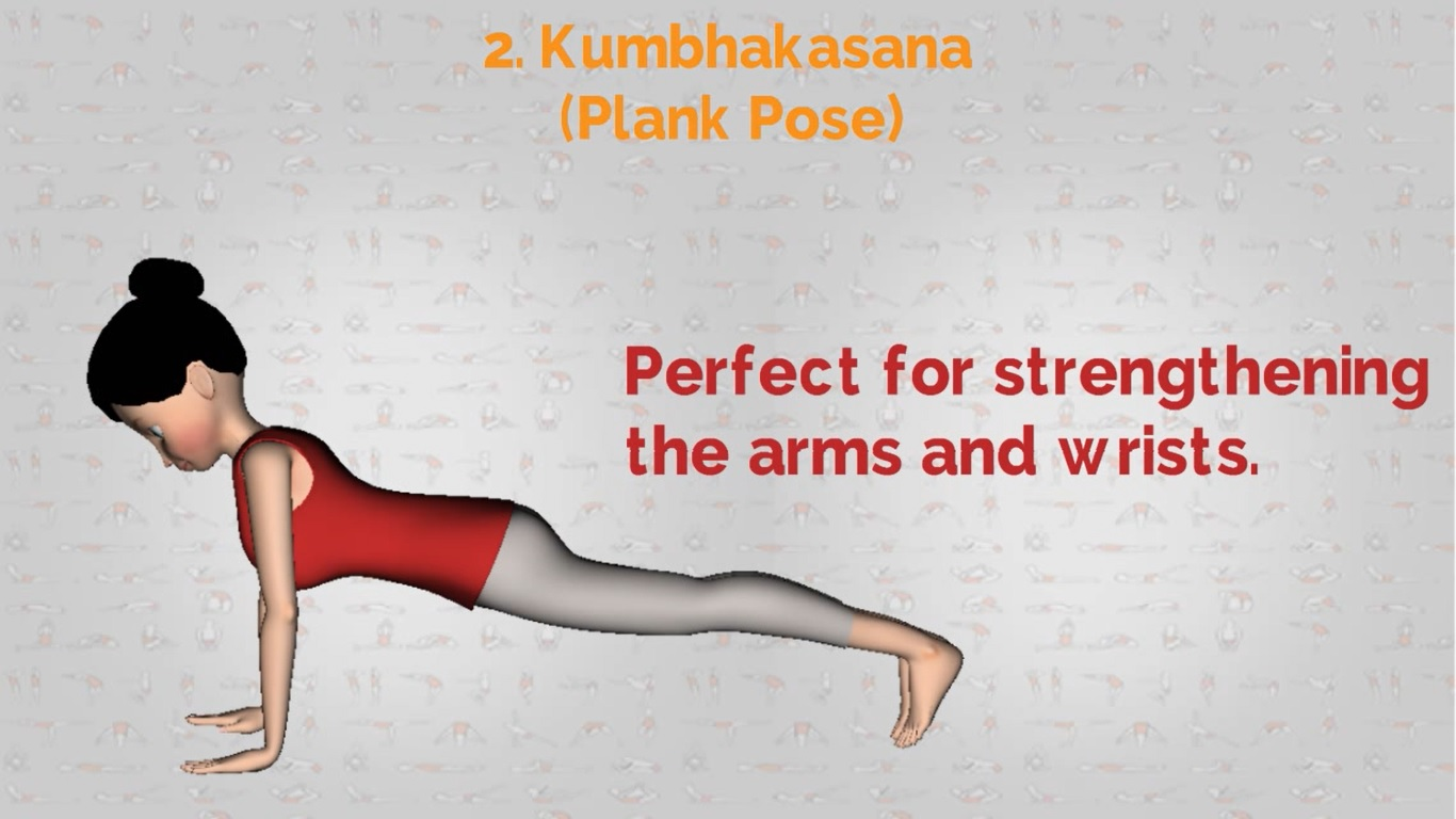 Yoga for shoulder Kumbhakasna plank pose