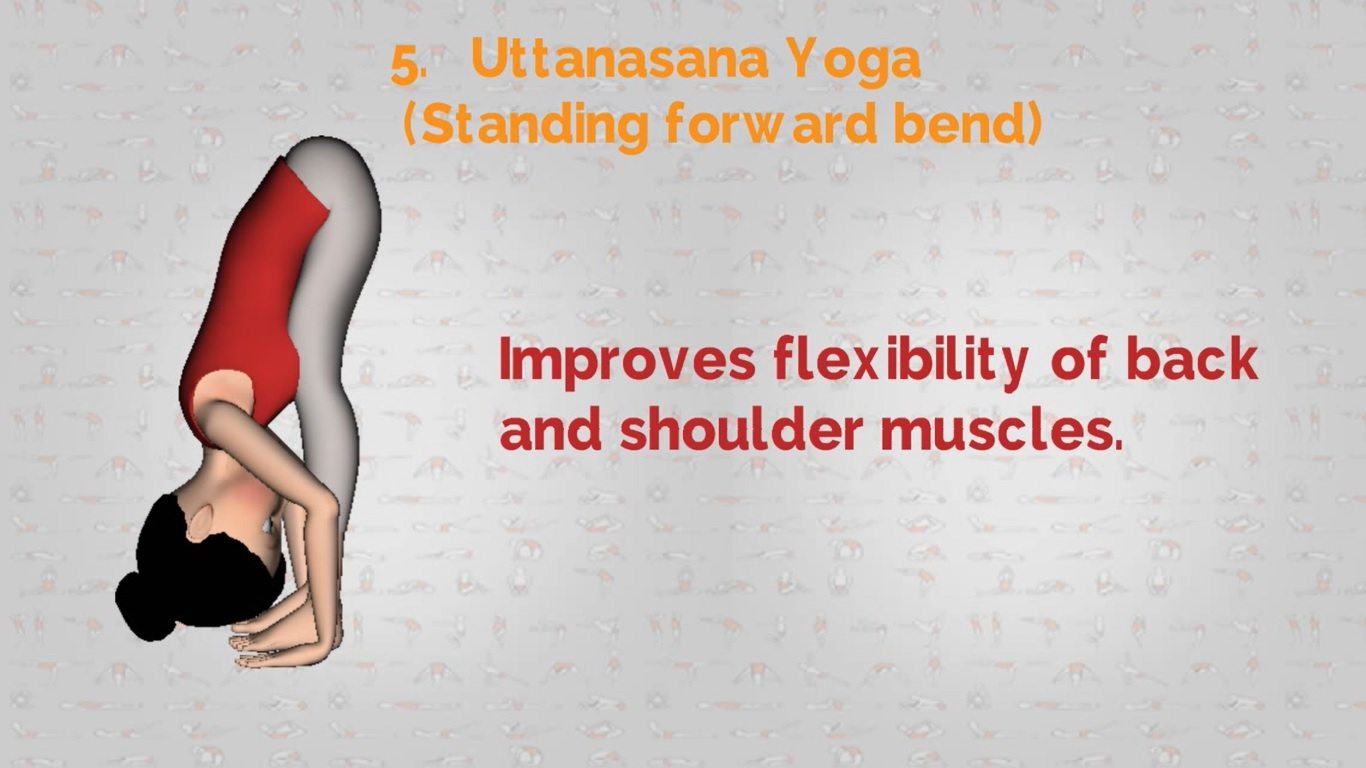 yoga for shoulders | Uttanasana