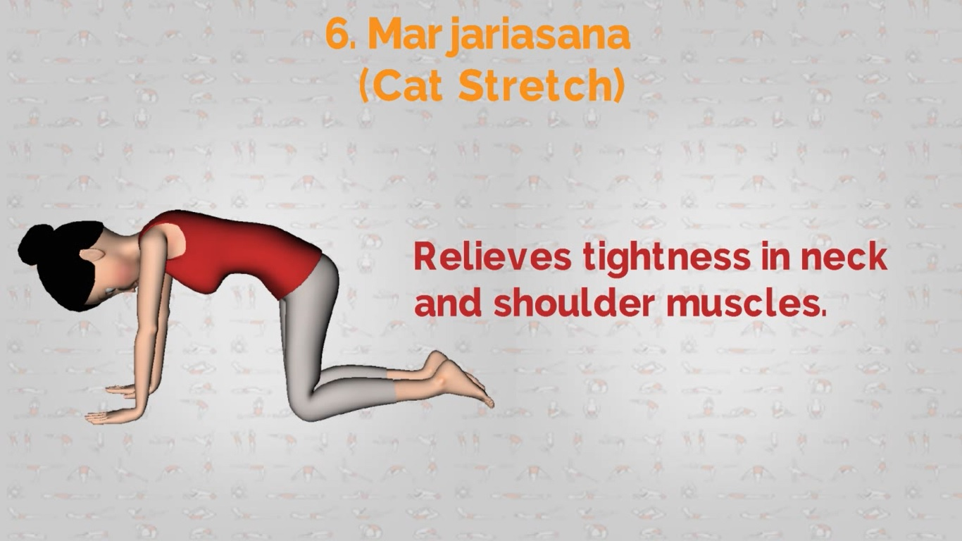yoga for shouldres | Marjariasana