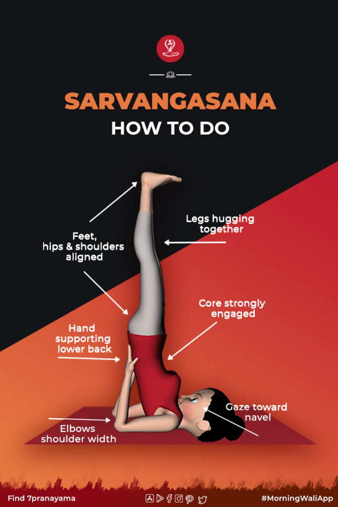 How to do Sarvangasana